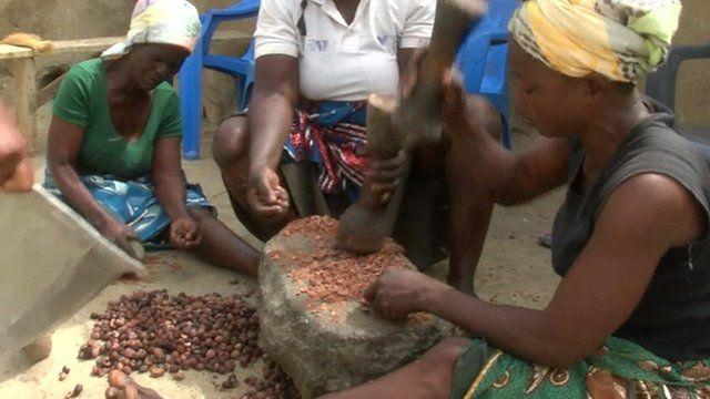 Women working in Ghana