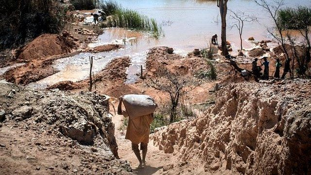 A colbalt mine in the Democratic Republic of the Congo (DRC)