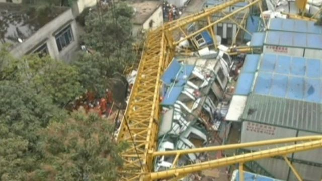 China crane collapse
