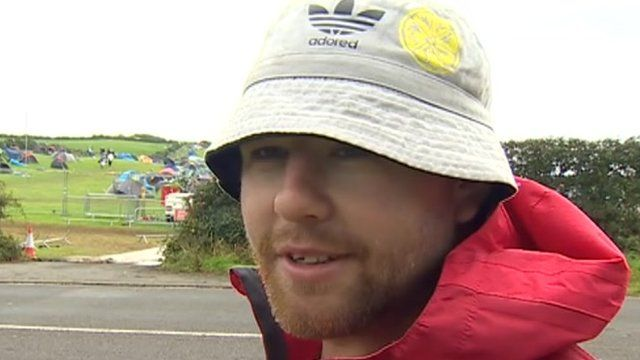 Festival goer Dan Cassidy told the BBC that he hoped to get a refund for his £140 ticket