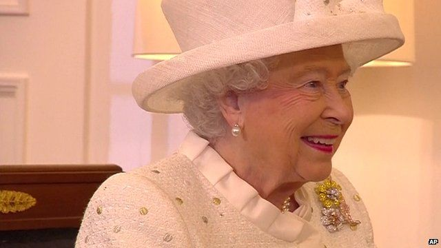 Queen Elizabeth on a state visit to Germany