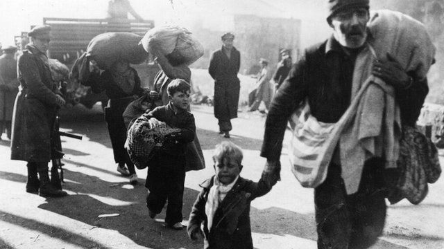 Spanish refugees during the country's civil war