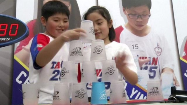 Cup stacking competition