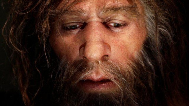 Painting of a Neanderthal