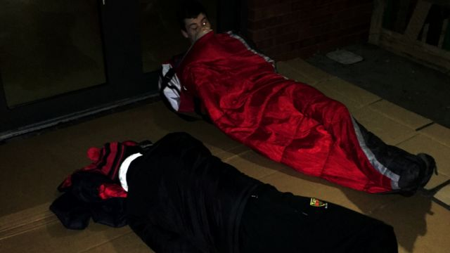 Pupils try sleeping rough