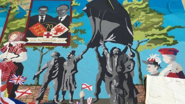 A section of the final Liberation tapestry panel