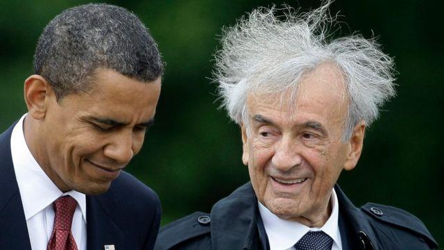 US President Barack Obama and Elie Wiesel