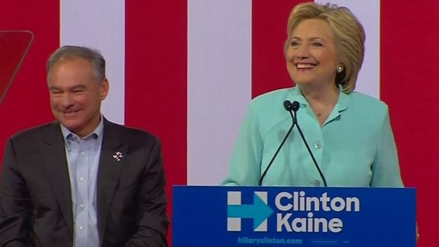 Tim Kaine and Hilary Clinton