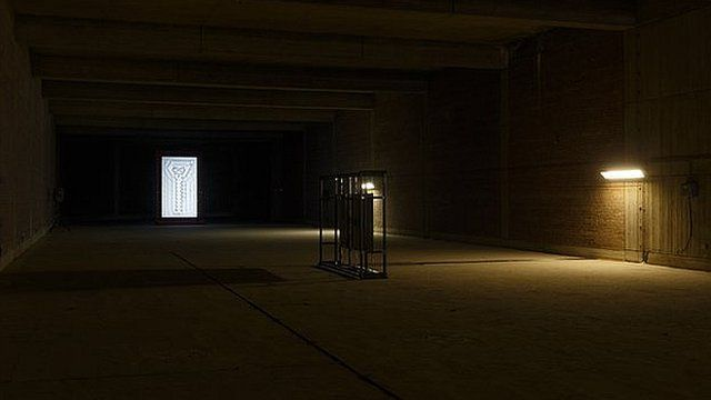Installation View: Steven Claydon at Moore Street Electricity Substation. Courtesy of Art Sheffield