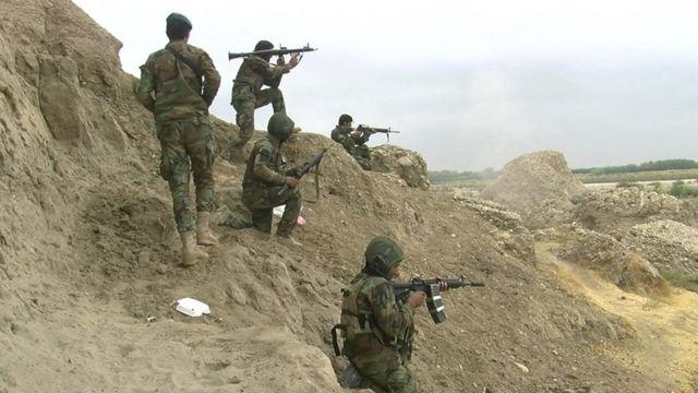 Afghan army troops
