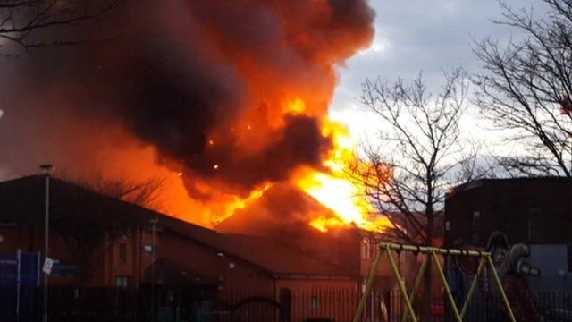 The fire in City Road, Cardiff