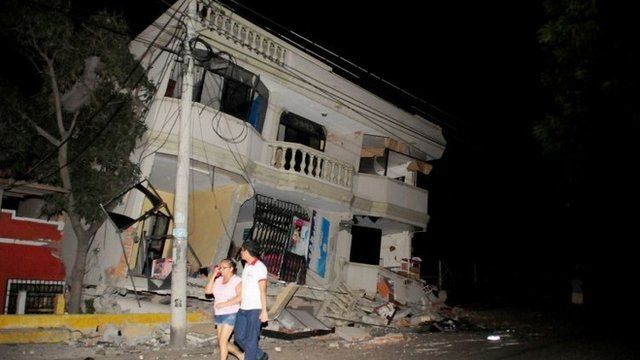 Ecuador earthquake damage in Guayaquil