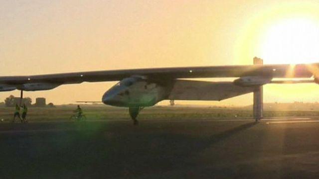 The Solar Impulse in Seville, Spain.