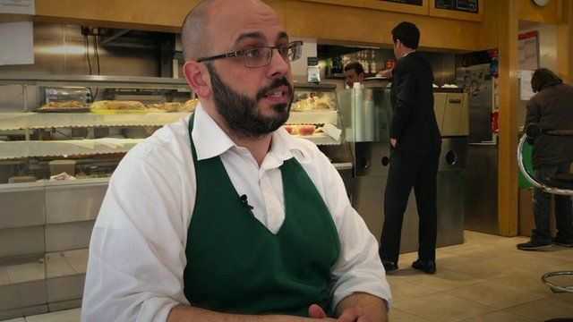 Alex Pose-Gil, London cafe owner