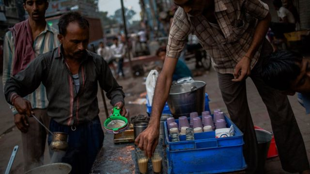 Masala chai is sold on every street corner in India