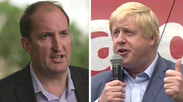 Guto Harri and Boris Johnson