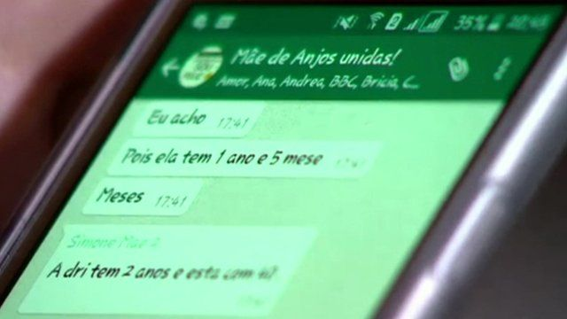 Mobile phone using WhatsApp