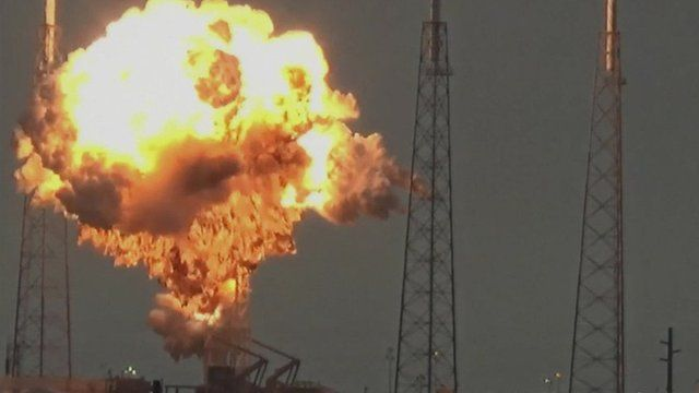 スペースXのロケット「ファルコン9」爆発