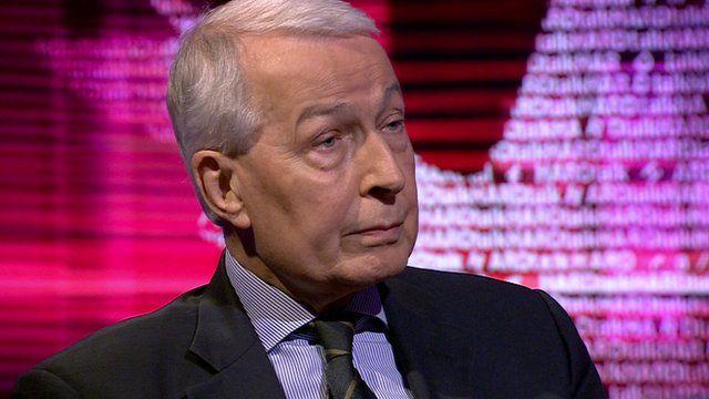 Frank Field MP, former minister for welfare reform