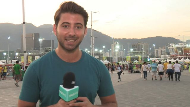 Ricky in Rio for Newsround.