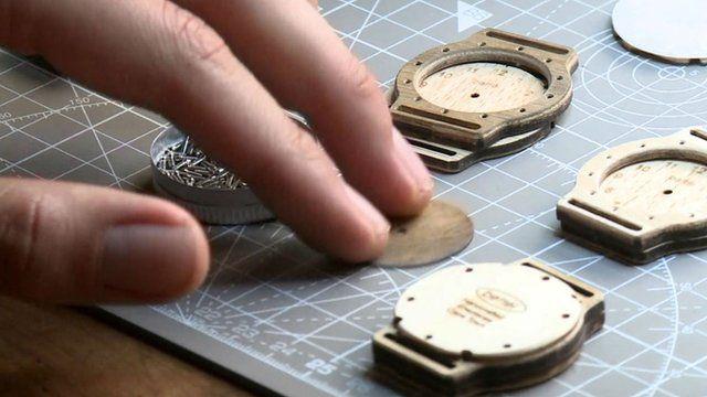 Wooden watch parts