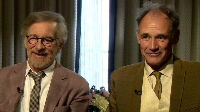 Steven Spielberg and Mark Rylance