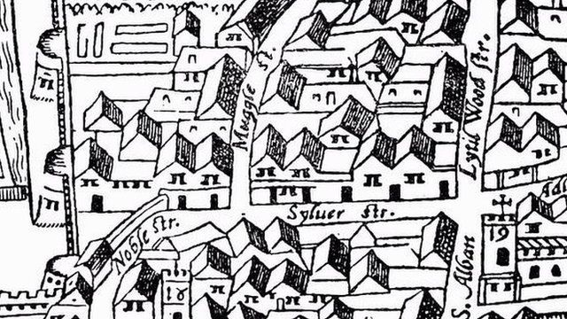 Silver Street Agas map