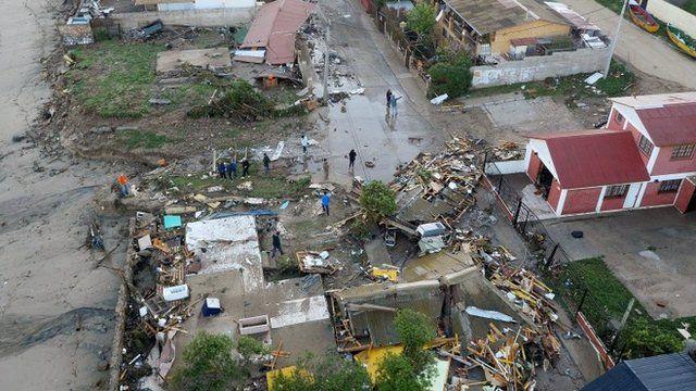 Earthquake damage in Los Vilos, Chile