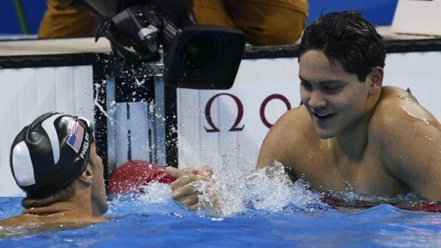 Michael Phelps and Joseph Schooling