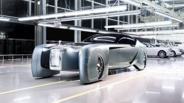 rolls royces concept car is designed to look as if it is gliding on the air