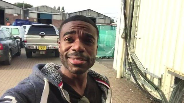 Ore Oduba on rehearsal day at the Strictly studios