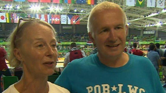 Christine and David James