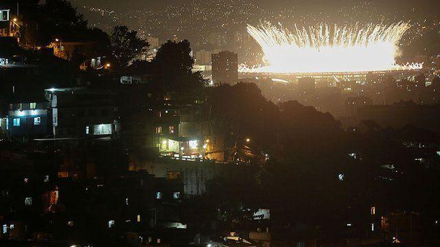 Rio with stadium in background