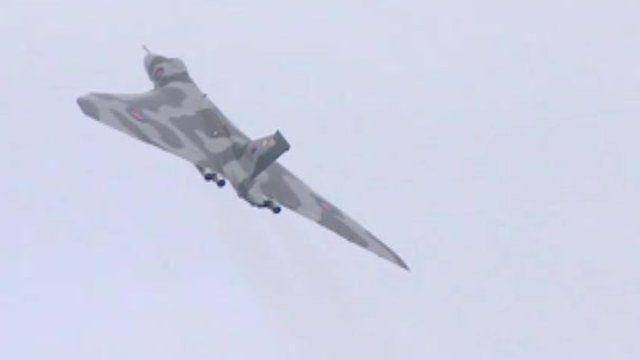 Vulcan in flight
