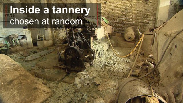 Inside a tannery in Kanpur, India