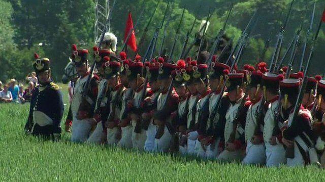 Waterloo re-enactment enthusiasts