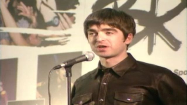 Noel Gallagher at The BRIT Awards in 1996