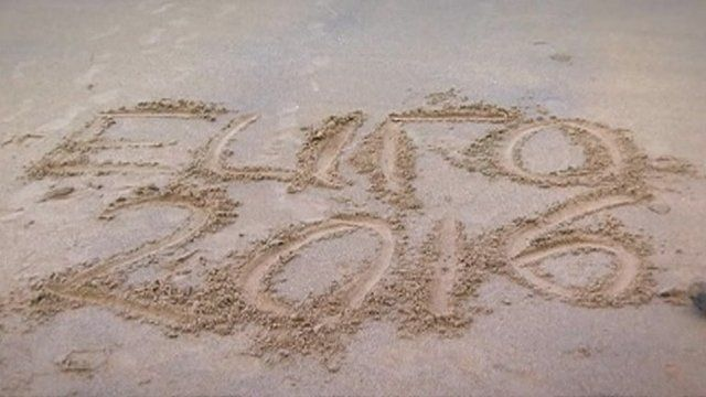 Euro 2016 sign in sand