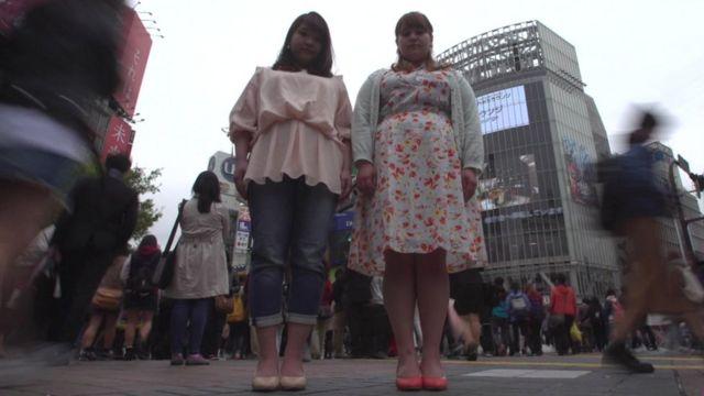 Models standing in Tokyo street
