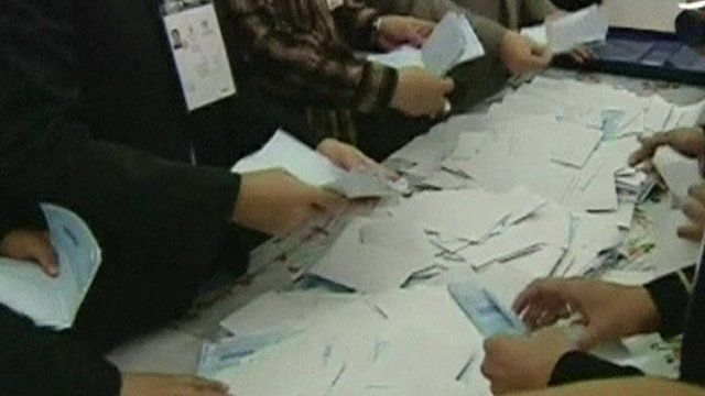 Votes counted in Iran