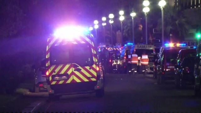Emergency services in Nice, France.