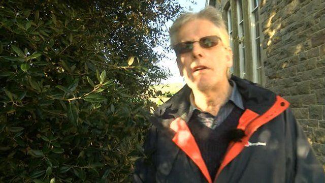Geologist Dr Dyfed Elis Gruffydd