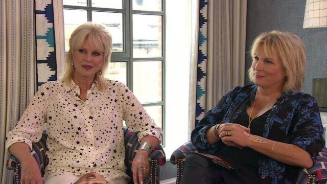 Joanna Lumley and Jennifer Saunders