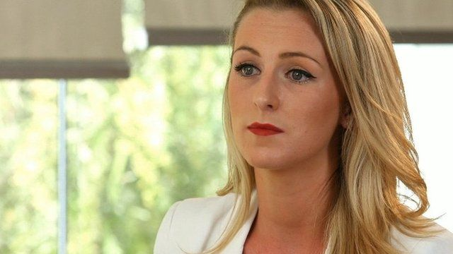 Michaella McCollum speaking to RTÉ after her release from prison in Peru