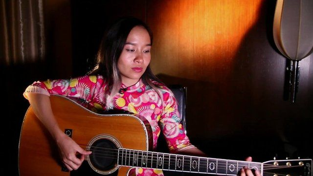Mai Khoi, a Vietnamese singer who tried to run for assembly but was blocked - May 2016