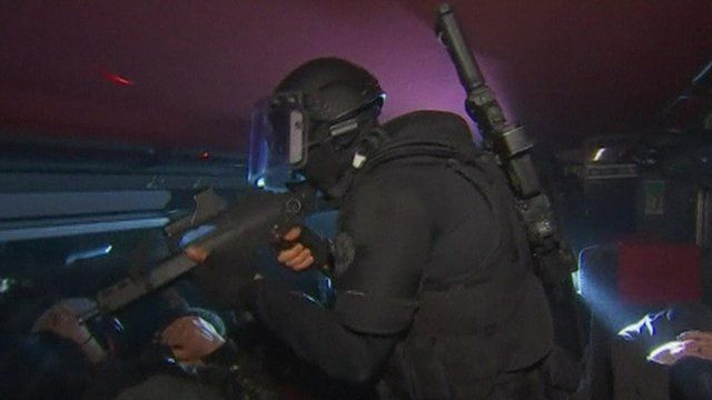 French police on training exercise