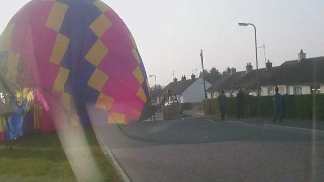 The balloon landed on a street in Gortmore, Maghera