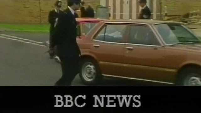 Still frame from BBC News report on gold bar robbery