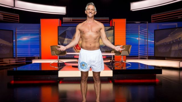 Gary Lineker presents Match of the Day in his pants.