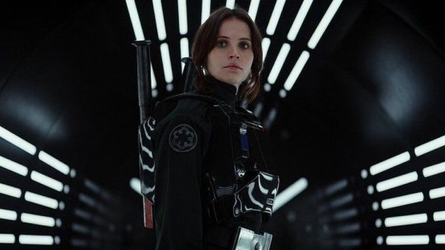 Still image from Rogue One film trailer shows actress Felicity Jones